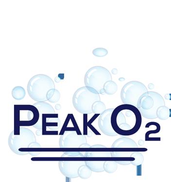 small pond aeration Peak O2 logo
